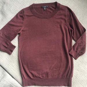 Jcrew merino wool crew neck sweater maroon
